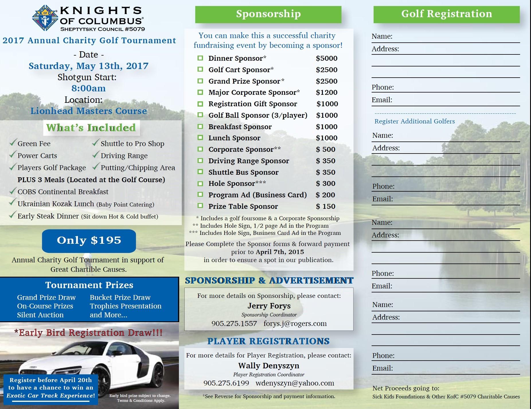 2017 k of c golf registration form
